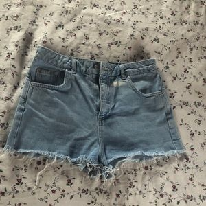 Top shop high rise denim shorts